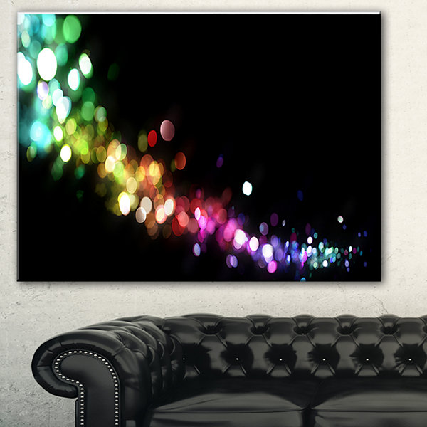 Designart Colorful Abstract Lighting Abstract Canvas Art Print - 3 Panels