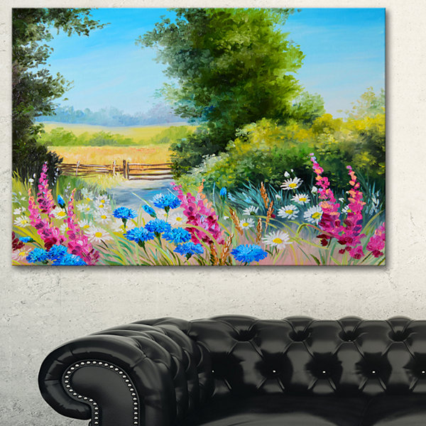 Designart World Of Flowers Floral Art Canvas Print