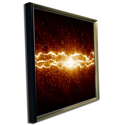 Designart Lightning On Dark Sky Contemporary Canvas Art Print
