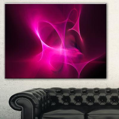 Designart Magenta Fractal Desktop Abstract CanvasArt Print