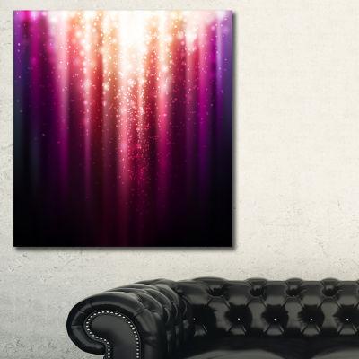 Designart Magic Light Abstract Canvas Art Print -3Panels