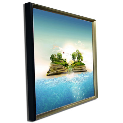 Designart Magical Book About Nature Contemporary Canvas Art Print