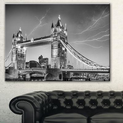 Designart Majesty Of Tower Bridge London CityscapePhoto Canvas Print - 3 Panels