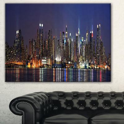 Designart Manhattan Midtown Skyline Cityscape Photo Canvas Print - 3 Panels