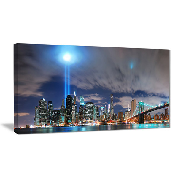 Designart Manhattan Panorama Cityscape Photo Canvas Print