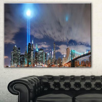 Design Art Manhattan Panorama Cityscape Photo Canvas Print - 3 Panels