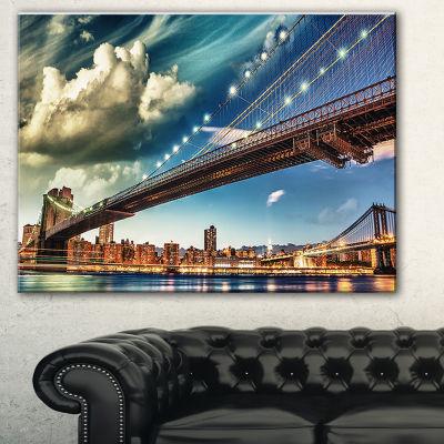 Designart Manhattan Skyline At Summer Cityscape Photo Canvas Print