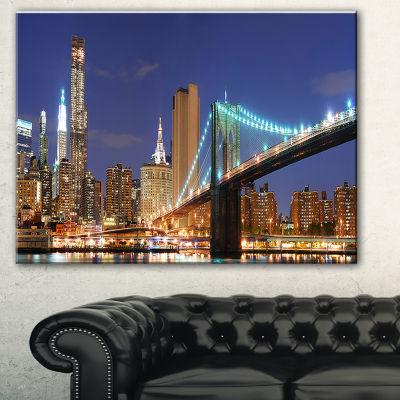 Designart Manhattan Skyline Panorama Cityscape Photo Canvas Print