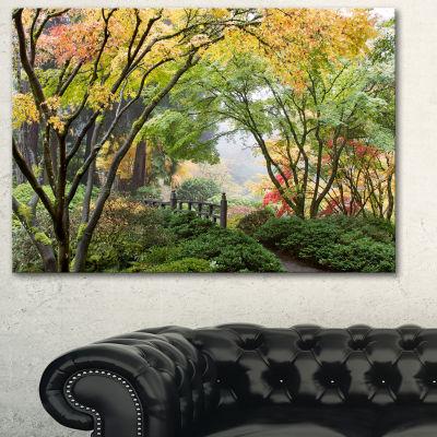 Designart Maple Tree Canopy By Bridge PhotographyCanvas Art Print - 3 Panels