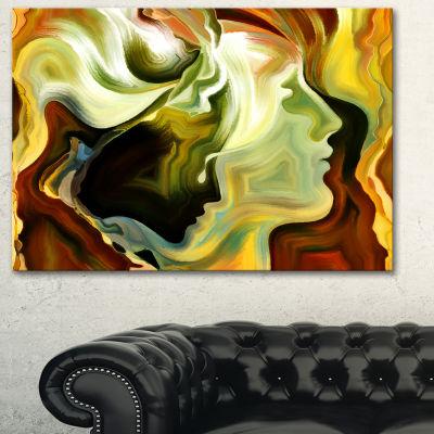 Designart Metaphorical Inner Self Abstract CanvasArt Print