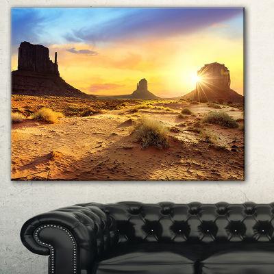 Designart Monument Valley Landscape Photography Canvas Art Print