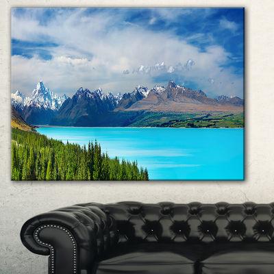 Designart Mount Cook New Zealand Landscape Photography Canvas Art Print