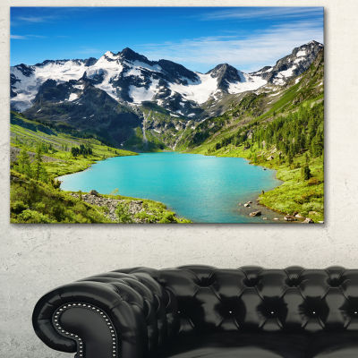 Designart Mountain Lake Landscape Photography Canvas Art Print