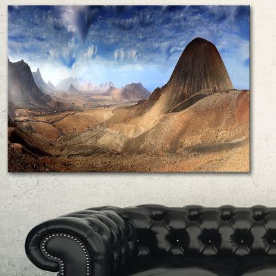 Designart Mountain Scenery Panorama Landscape Photography Canvas Print - 3 Panels