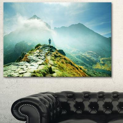 Designart Mountains Landscape Photography CanvasArt Print - 3 Panels