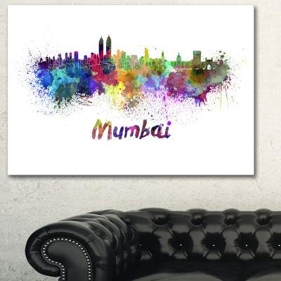 Designart Mumbai Skyline Cityscape Canvas ArtworkPrint
