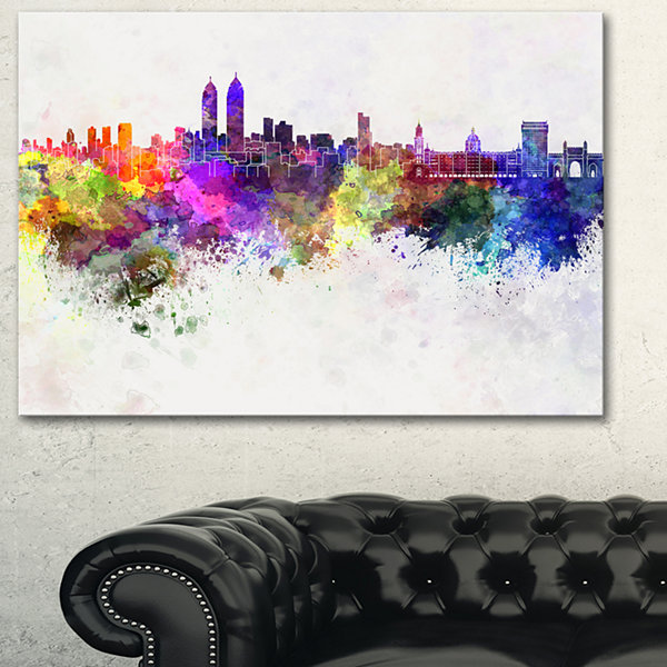 Designart Mumbai Skyline Cityscape Canvas Wall ArtPrint - 3 Panels