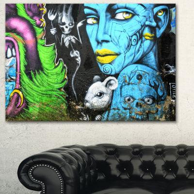 Designart Mural Wall Art Street Art Canvas Art Print