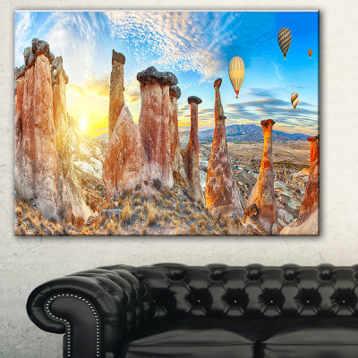 Design Art Mushrooms Landscape Photography CanvasArt Print - 3 Panels