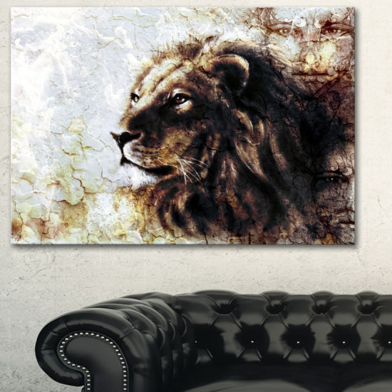 Designart Mystic Face Animal Art Painting