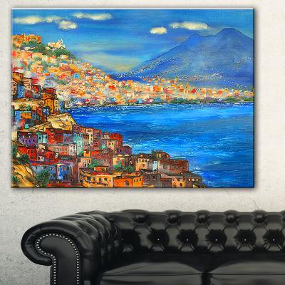 Designart Naples Today Seascape Canvas Art Print