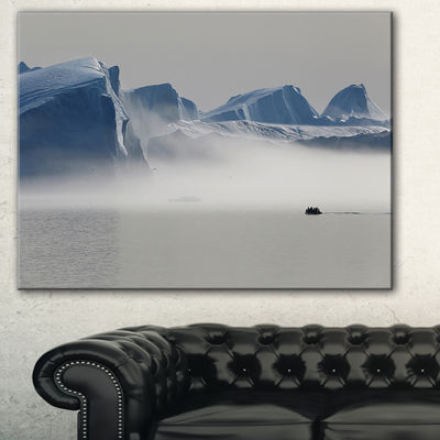 Designart Nature Of Greenland Landscape Photography Canvas Print - 3 Panels