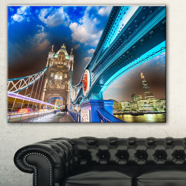 Designart Night Over Tower Bridge In London Cityscape Photo Canvas Print