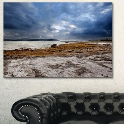 Designart Norway Ocean Coast Land Photography Landscape Canvas Print