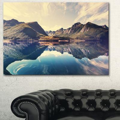 Designart Norway Summer Mountains Landscape Photography Canvas Print
