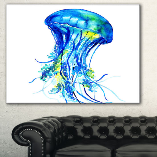 Designart Ocean Water Jellyfish Animal Canvas ArtPrint