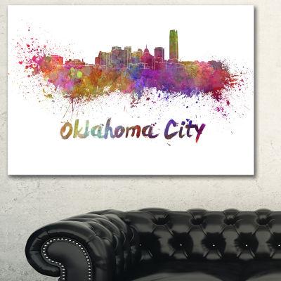Designart Oklahoma Skyline Cityscape Canvas Artwork Print