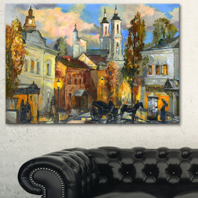 Designart Old City Cityscape Canvas Art Print - 3Panels
