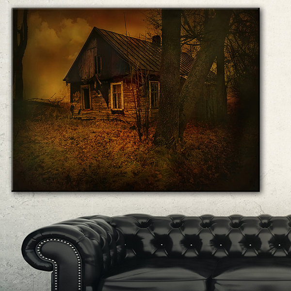 Designart Old House Landscape Photography Canvas Art Print