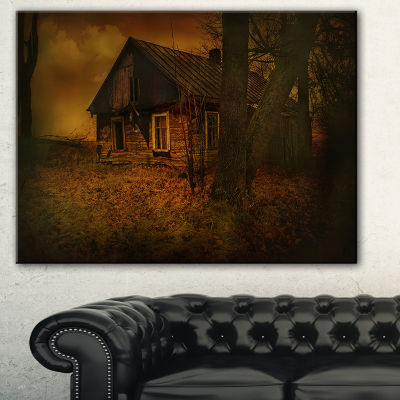 Designart Old House Landscape Photography CanvasArt Print - 3 Panels