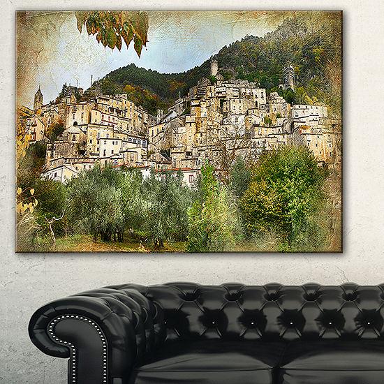 Designart Old Italian Villages Landscape Photography Canvas Art Print 3 Panels