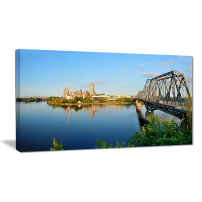 Designart Ottawa Morning Panorama Cityscape PhotoCanvas Print
