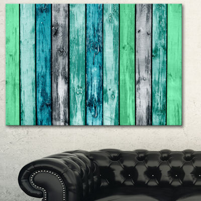 Designart Painted Wooden Planks Abstract Canvas Art Print