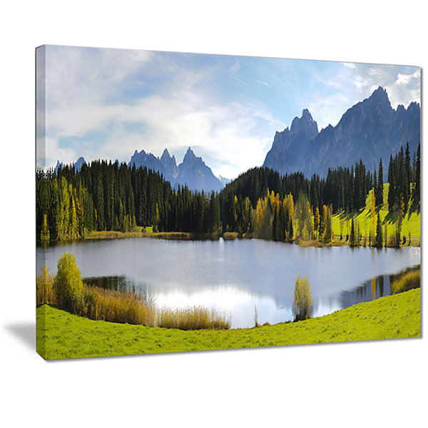 Designart Panorama Landscape In Bavaria Photography Canvas Art Print
