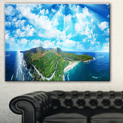 Designart Panoramic Acadia National Park LandscapePhotography Canvas Print - 3 Panels