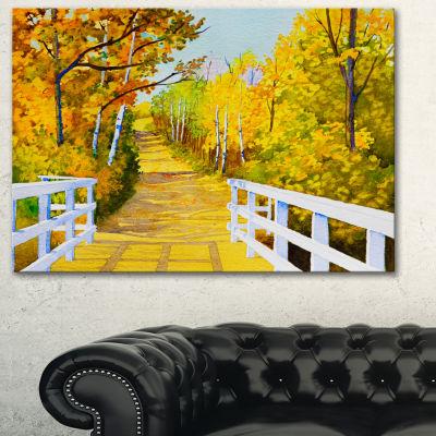 Designart Parkland Trails Photography Canvas ArtPrint - 3 Panels