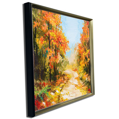 Designart Path In Autumn Forest Landscape Art Print Canvas