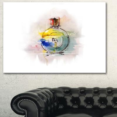 Designart Perfume Bottle Contemporary Canvas Art Print