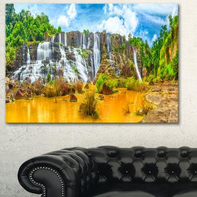 Designart Pongour Waterfall Landscape PhotographyCanvas Art Print