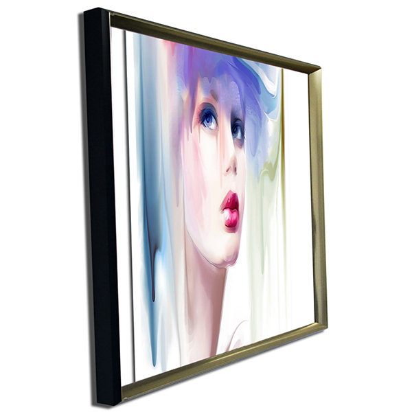 Designart Portrait Of Beautiful Girl Portrait Canvas Art Print