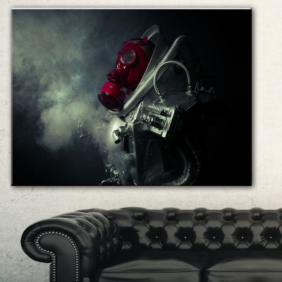 Designart Post Apocalyptic Survivor Abstract Portrait Canvas Print
