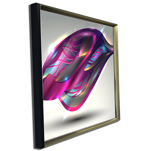 Designart Purple Associative Illustration Contemporary Art Canvas Print