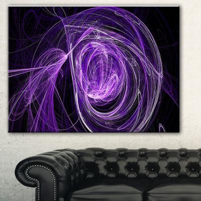 Designart Purple Ball Of Yarn Abstract Canvas ArtPrint