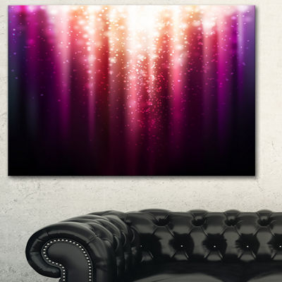 Designart Purple With Magic Light Abstract CanvasArtwork - 3 Panels