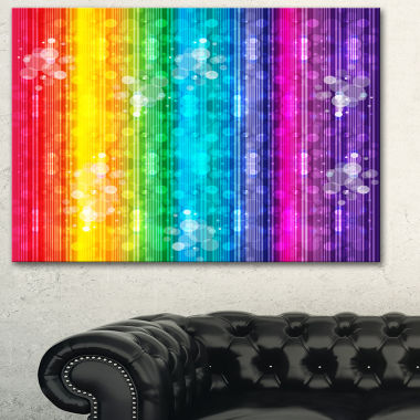 Designart Rainbow Effects Illustration Abstract Canvas Art Print