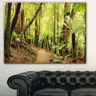 Designart Rainforest Panorama Landscape Photography Canvas Art Print - 3 Panels